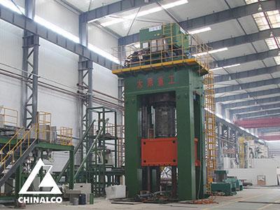 80MN油压机用于自耗电极块压制成形